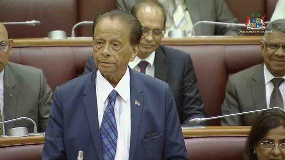 Projet de loi sur la réforme électorale : suivez l'intervention de Sir Anerood Jugnauth