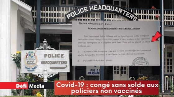 Covid-19 : congé sans solde aux policiers non vaccinés