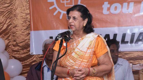 Lady Sarojini : «Se enn election ki claire, soit Pravind, soit Navin»