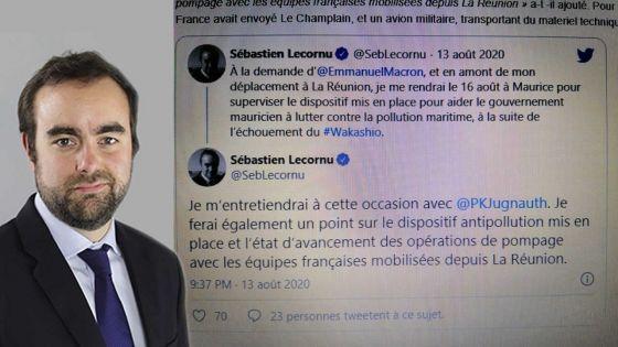 Wakashio : Sébastien Lecornu, ministre des Outre-mer,  à Maurice ce dimanche à la demande de Macron