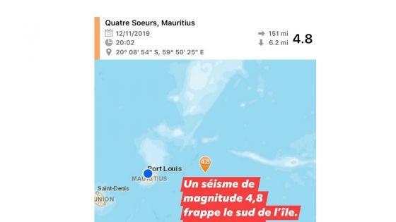 Deux tremblements de terre ressentis à Mauriceen moins de 15 jours