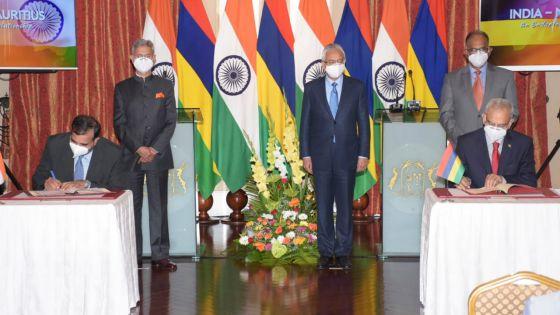 Visite du ministre indien des Affaires étrangères : des accords entre Maurice et l'Inde signés ce lundi