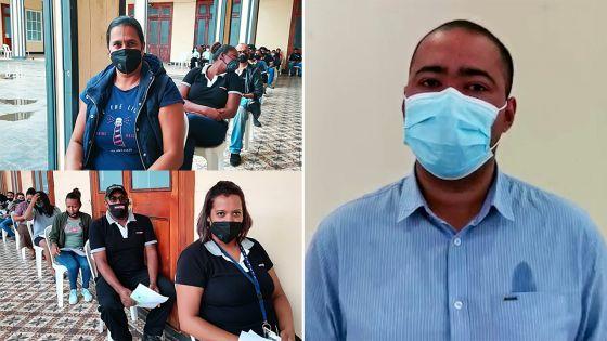 Vaccination anti-covid-19 à Beau-Bassin/Rose-Hill : des employés de supermarchés et des ONGs attendent leur tour