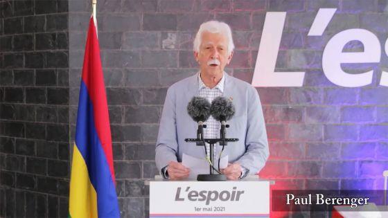 Fête du Travail : «Ne perdons pas espoir en l'avenir», dit Bérenger