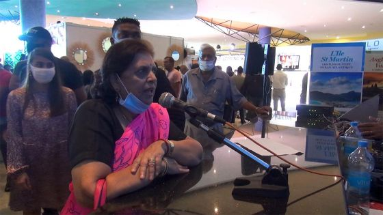 Lady Sarojini Jugnauth attristée par la catastrophe écologique