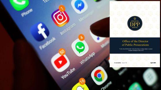 E-newsletter du DPP : Il faut inclure «l'usage abusif sur les réseaux sociaux» dans la loi, dit Me Mauree