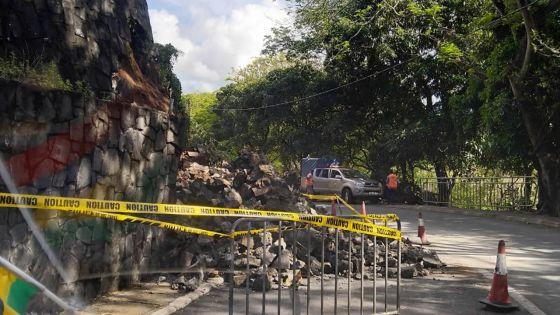 Souillac : un mur de soutènement s'effondre