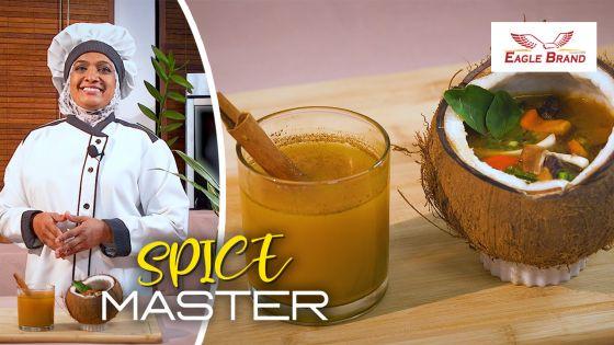 Spice Master : soupe aux chevrettes séchées et boisson au safran