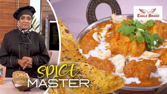 «Spice Master» : un succulent curry de crevettes aux noix de cajou et des farathas aux fines herbes avec la cheffe Nafizah