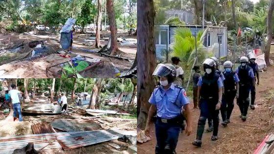 African Town : démolition des maisons des squatters, des mères de famille en larmes