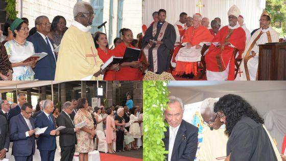 [En images] Consécration et installation du nouvel évêque de Maurice, Sténio André