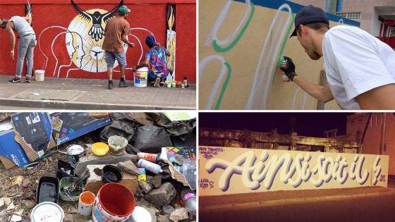 Street Art : des fresques à l'effigie du pape François sur des murs de Sainte-Croix