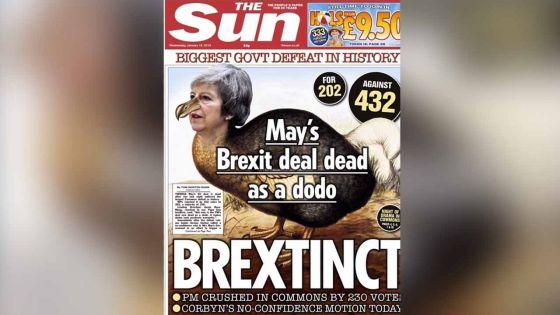 Brexit : le deal de Theresa May «dead as a dodo», selon The Sun