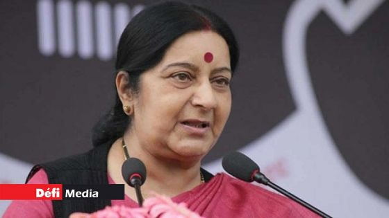Hommage rendu à Sushma Swaraj