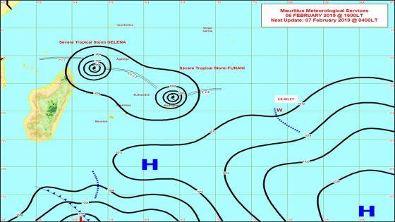 Météo : le cyclone tropical Gelena à 970 km de Maurice