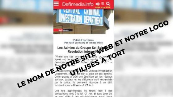 Le Défi Media Group ainsi que deux journalistes se dissocient d'une «fake news»