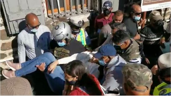 Prise d'un malaise, Taslima Valayden conduite à l'hôpital