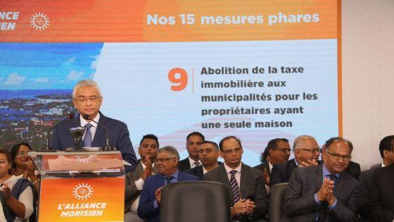 Manifeste électoral de l'Alliance Morisien : Pravind Jugnauth promet la suppression de la taxe immobilière dans les municipalités pour les propriétaires d'une seule maison