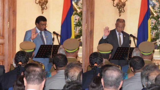 Président et vice-président : Pradeep Roopun et Eddy Boissezon ont prêté serment
