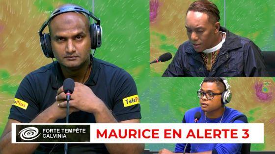 Maurice en alerte 3. Forte tempête tropicale Calvinia : plateau spécial sur Radio Plus