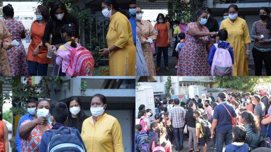 Masques et «hand sanitizers», new normal pour les élèves