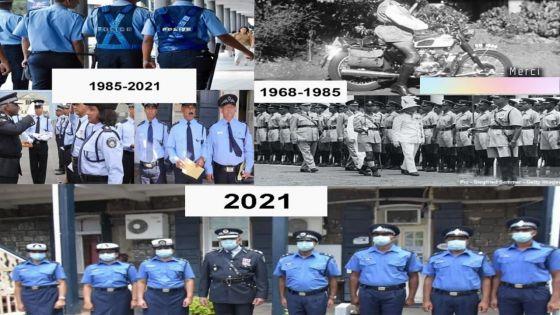 L'évolution des uniformes de police