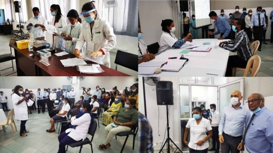 [En images] Vaccination anti-covid-19 :  exercice de simulation à l'hôpital Victoria