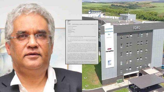 Affaire Kistnen : l'Icac demande à Valayden de ne pas s'ingérer dans son enquête et faire pression pour obtenir la version de Yogida Sawmynaden