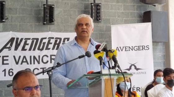 Rama Valayden demande aux leaders politiques de soutenir la cause des Avengers