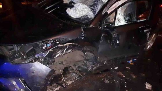 Accident : une voiture fait une sortie de route à Réduit