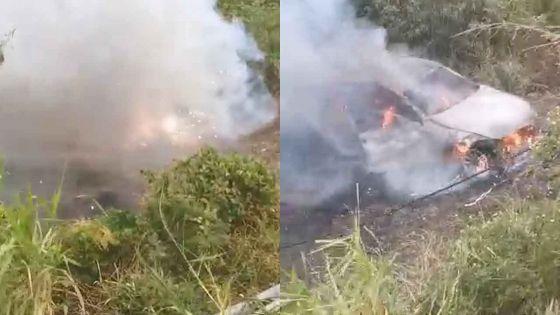 Verdun : une voiture prend feu après une sortie de route