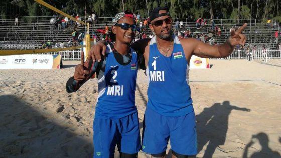 JIOI - Beach-volley : les volleyeurs mauriciens décrochent leur ticket pour la finale