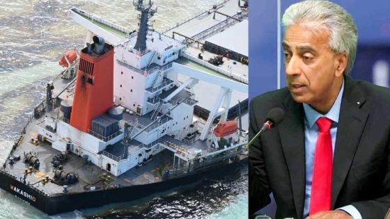 Fuite d'huile du Wakashio : Arvin Boolell parle de «désastre écologique maritime»