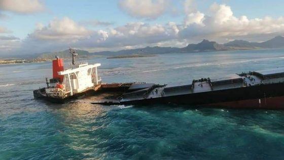 Le MV Wakashio se fragilise davantage