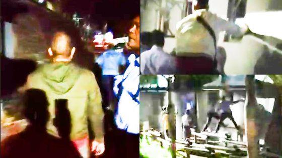 Evasion du centre de détention de Petite-Rivière : vidéo de l'arrestation d'un des sept mineurs dans les locaux de la piscine Serge Alfred