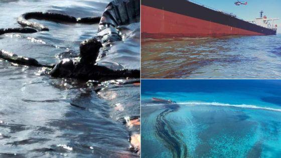 Wakashio : fuite d'huile, confirme le ministère de l'Environnement