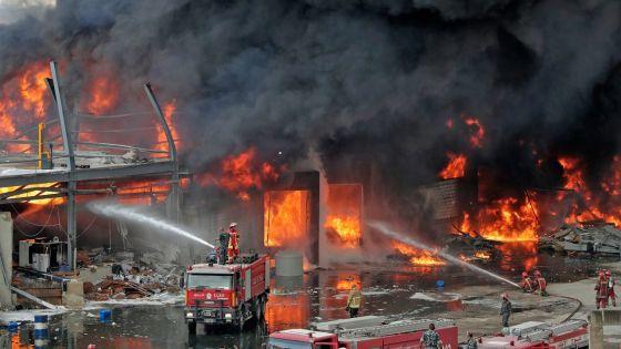 [En images] Un gigantesque incendie au port de Beyrouth quelques semaines après l'explosion