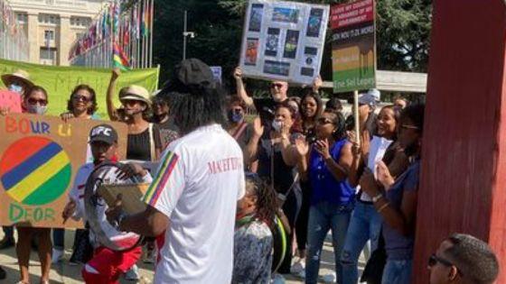Une centaine de Mauriciens ont manifesté devant l'Office des Nations Unies ce dimanche