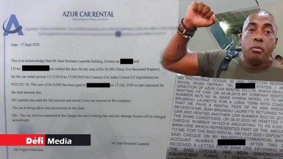 Émission de chèque sans provision : Pritiviraj Oogur affirme avoir retiré sa plainte contre Bruneau Laurette ; voici tout ce que vous devez savoir