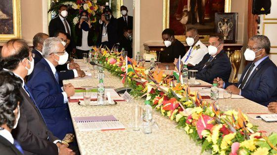 Visite du président Ramkelawan : signature de deux accords entre les Seychelles et Maurice sur le commerce et la sécurité