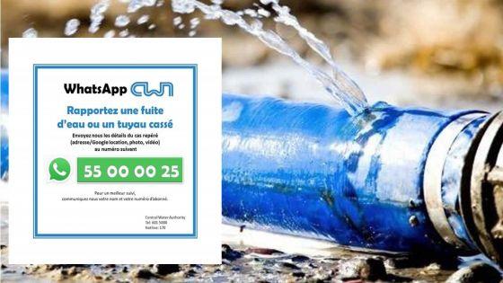 CWA : il est désormais possible de rapporter les fuites d'eau via WhatsApp