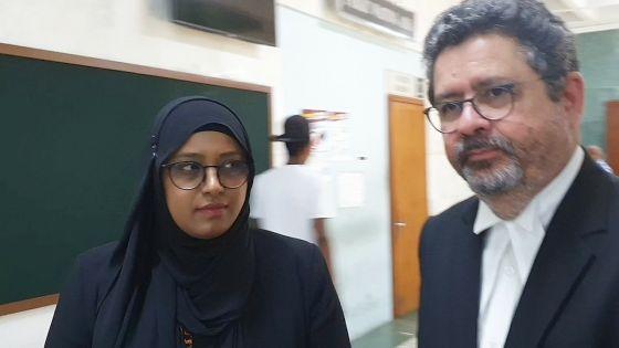 Me Glover «surpris» par l'arrestation de sa cliente, Youshreen Choomka-Ramjan, pour «conflit d'intérêts»
