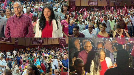 [En images] «Rasanbleman bann patriot» de Ganoo et Diolle en ce moment à Réduit
