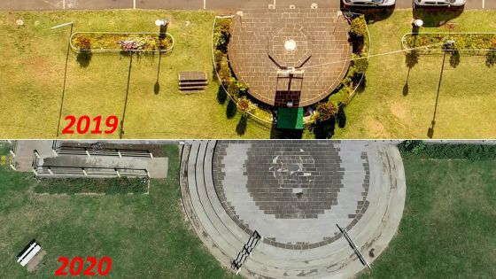 Rénovation de la cour du Plaza : le bétonnage de la plateforme est critiqué