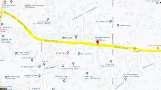 Travaux de canalisation à Curepipe : deux rues seront fermées à la circulation