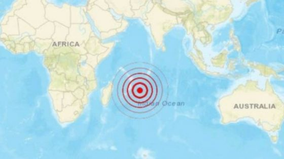 Secousse sismique à 1 000 km au nord-est de Maurice