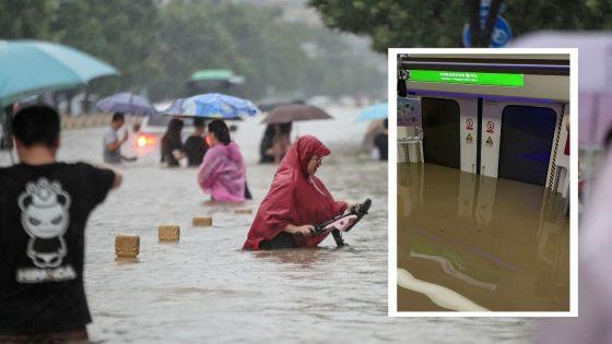 Chine : des intempéries record font 25 morts et engloutissent un métro