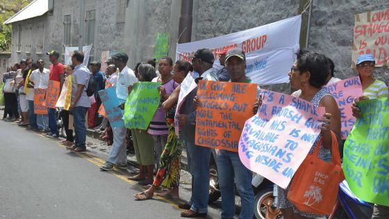 Manifestation: Les Chagossiens mécontents de l'attitude des Britanniques