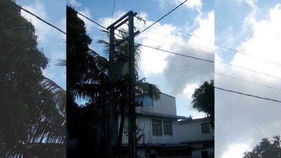 Bel-Air-Rivière-Sèche: un fil électrique traverse sa propriété sans son accord