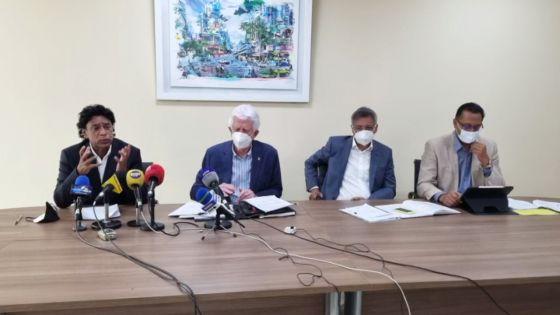 Plateforme de l'Espoir : Duval, Bérenger, Bodha et Bhadain face à la presse